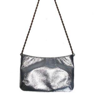 Vintage Saks Fifth Avenue Metallic Silver Handbag